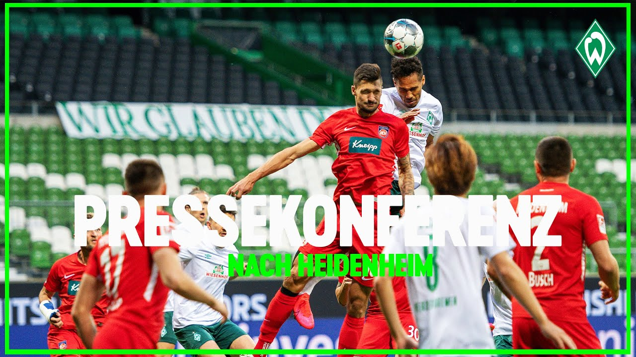 SV Werder Bremen - 1. FC Heidenheim 0:0   Pressekonferenz nach Relegations-Hinspiel