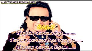 Tamma Tamma Loge Clean Karaoke With Scrolling Lyrics - Thanedaar - Bappi Lahiri and Anuradha Paudwal