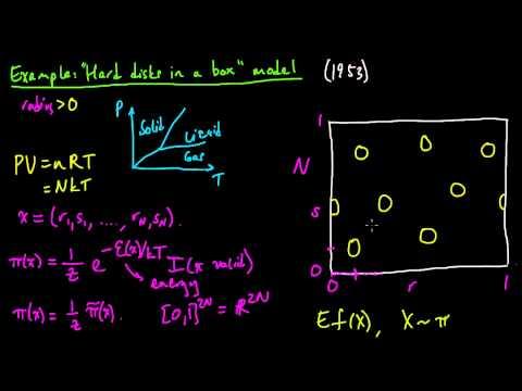 (ML 18.9) Example illustrating the Metropolis algorithm