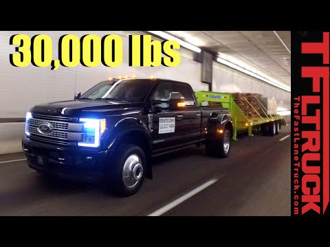 2017 Ford Super Duty F-450 vs. Super Ike Gauntlet Towing Review: Midnight Edition