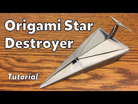 Origami Imperial Star Destroyer (Star Wars) | Tutorial