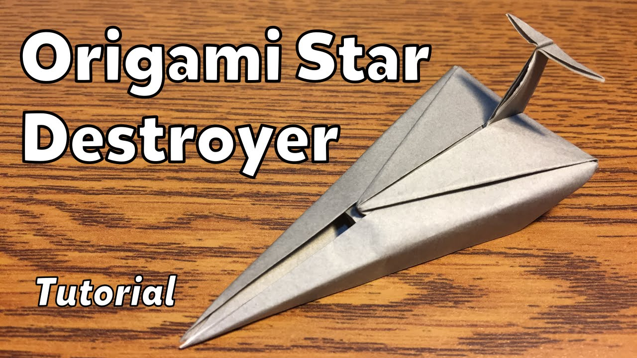 origami imperial star destroyer (star wars) | tutorial - youtube