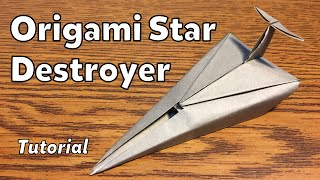Origami Imperial Star Destroyer (Star Wars) | Tutorial