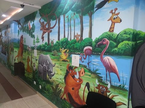 ART ABC KIDS CLASS ROOM PRE SCHOOL WALL PAINTING INDIA- 9217846592