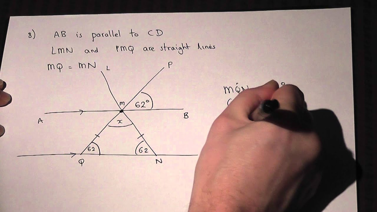 worksheet Angles Problem Solving Worksheets geometry angles and parallel lines solving problems youtube