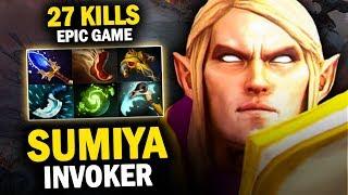 SUMIYA INVOKER IS SAVAGE!! EPIC GAME 27 KILLS EZ 6 SLOT ITEMS - DOTA 2 INVOKER 7.20E