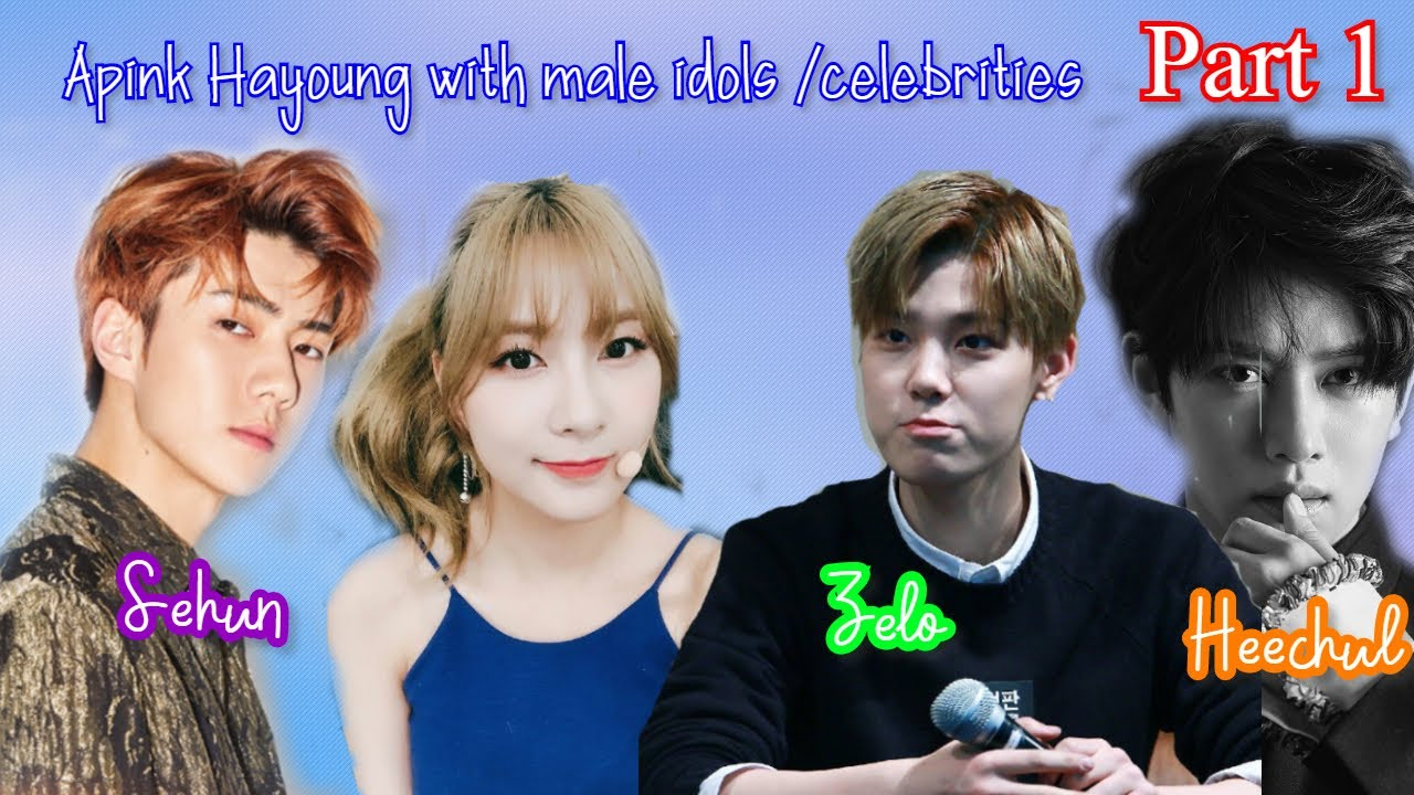 Apink Hayoung with male idols Part 1