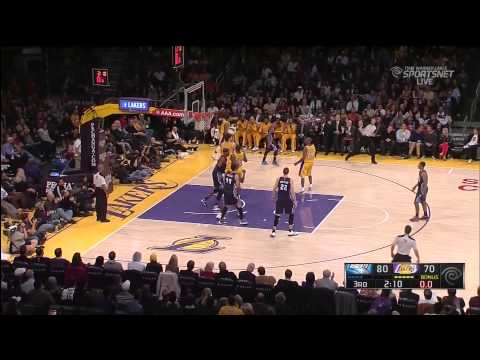12 18 2012   Bobcats vs  Lakers   Team Highlights