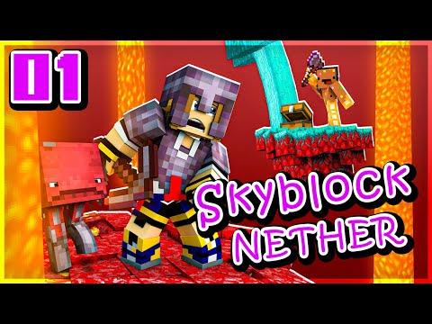 Minecraft MAIS sur des îles du Nether ! | Skyblock Nether #01 ft. @Ninjaxx