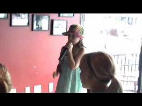 Abby C. sings karaoke WPS 2