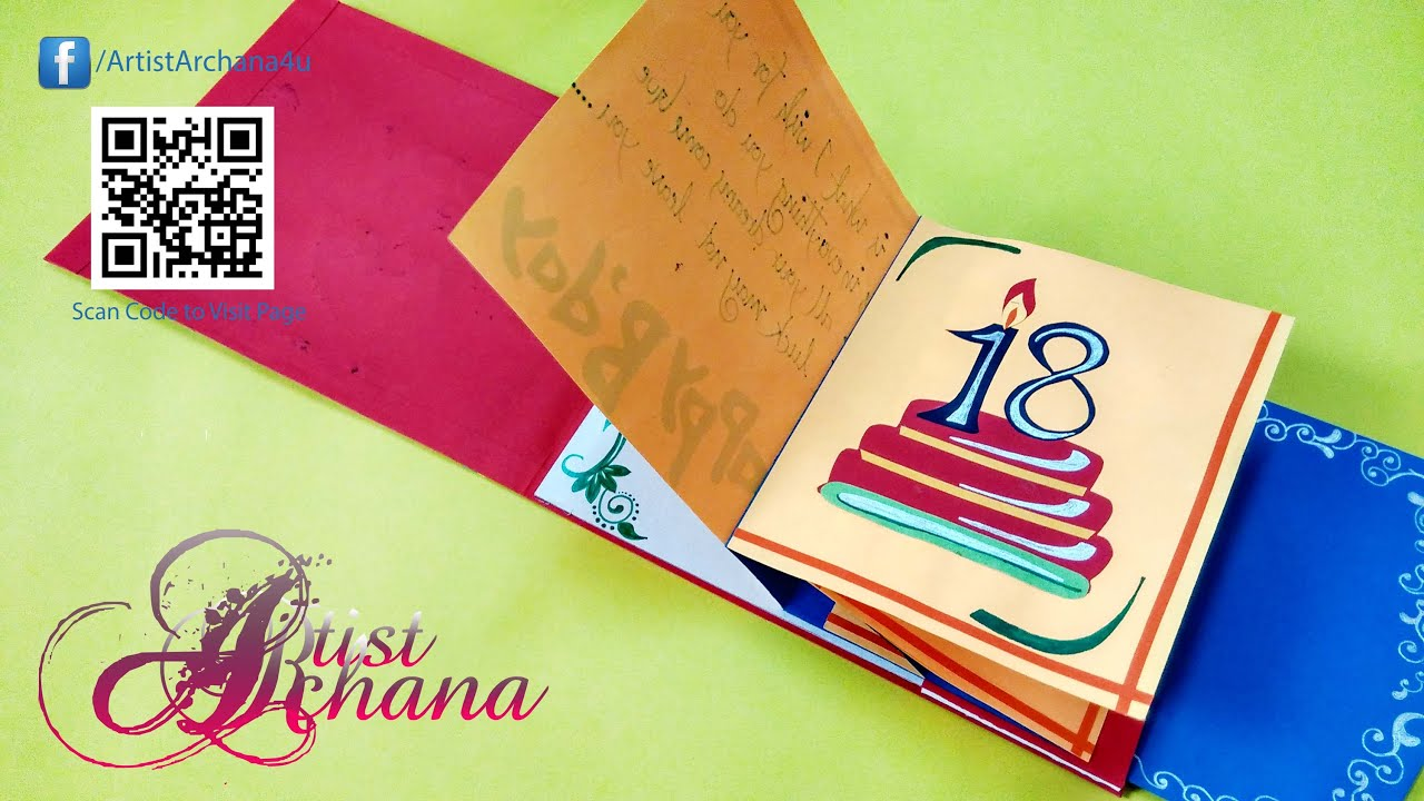Birthday Card Paper And Handmade Beautiful Birthday Card By Artist