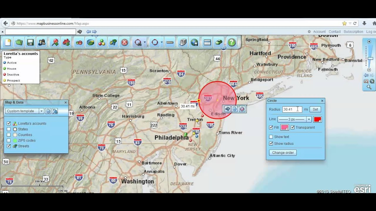 How to Create Radius Maps, Circles on Maps, and Radius Zip Codes - Zip Code Radius Maps Free on drive time maps free, area code maps free, zip code regions map, zip codes by city, zip code range, zip code for tulsa oklahoma map,