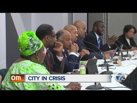 Detroit City Council holds meeting on city's financial situation