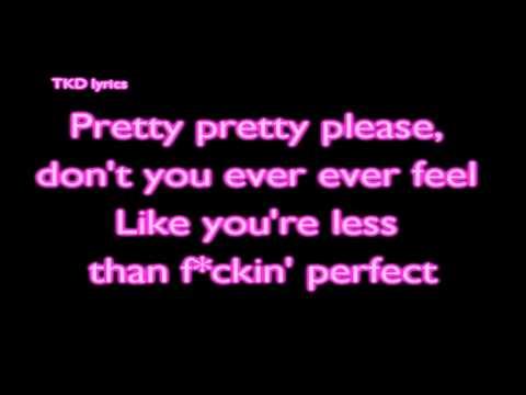 F*cking Perfect - P!nk (Lyrics) [HD]