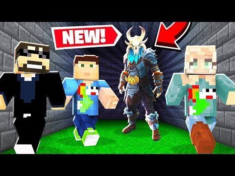 WE TRY A *FORTNITE* MURDER RUN! *NEW* in Minecraft!