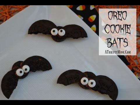 Oreo Halloween Bat Cookies - Easy Halloween treat ideas - YouTube