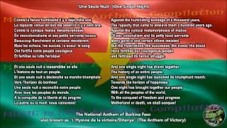Burkina Faso National Anthem with music, vocal and lyrics French w / English Translation