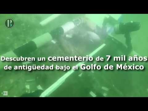 Descubren un cementerio de 7 000 años de antigüedad bajo el Golfo de México