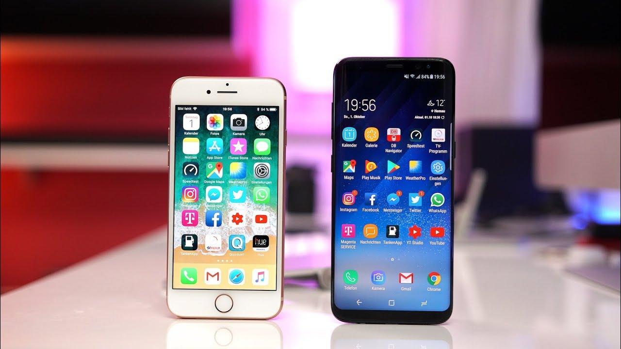 2b26ebab0b7bc8 Apple iPhone 8 vs. Samsung Galaxy S8 (Deutsch)