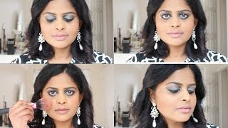 Silvery shimmery fall party look for Indian skin tone Thumbnail