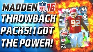 THROWBACK PACK! 97 HIT-POWER SAVAGE! - Madden 16 Ultimate Team!