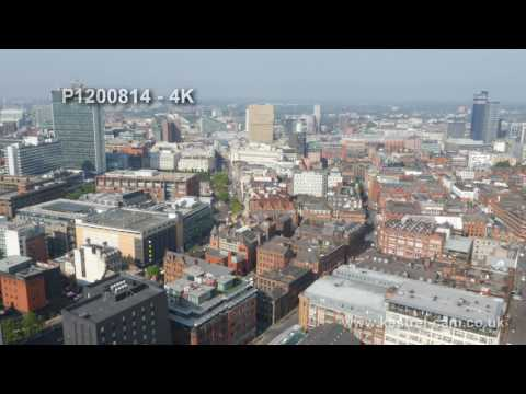 Manchester City Centre Drone Video Footage