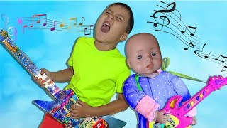 Baby Born Doll and Edward Pretend Play with Musical Instruments Toys for Kids