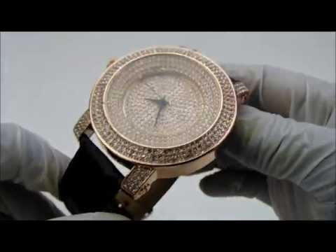 Simulated Diamond Flooded Techno Pave Watch Youtube