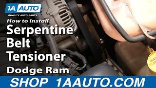 How To Install Repair Replace Serpentine Belt Tensioner Dodge Ram 02-08 5.7L Hemi 1AAuto.com