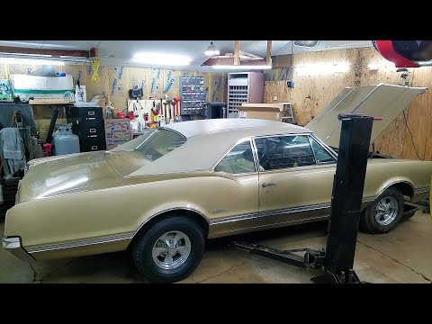 1966 Olds Cutlass radiator, carb, fuel tank, pump replacement.