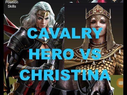Clash Of Kings : NEW Cavalry Hero VS Christina : REPORT COMPARISON