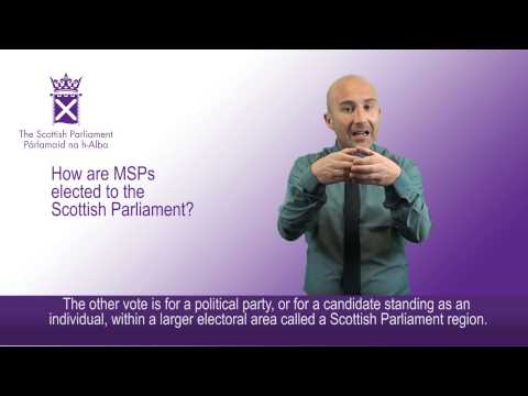 How are MSPs elected to the Scottish Parliament