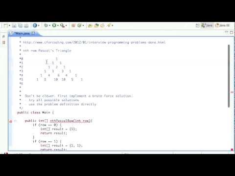 Java Pascal's Triangle: Arrays Tutorial