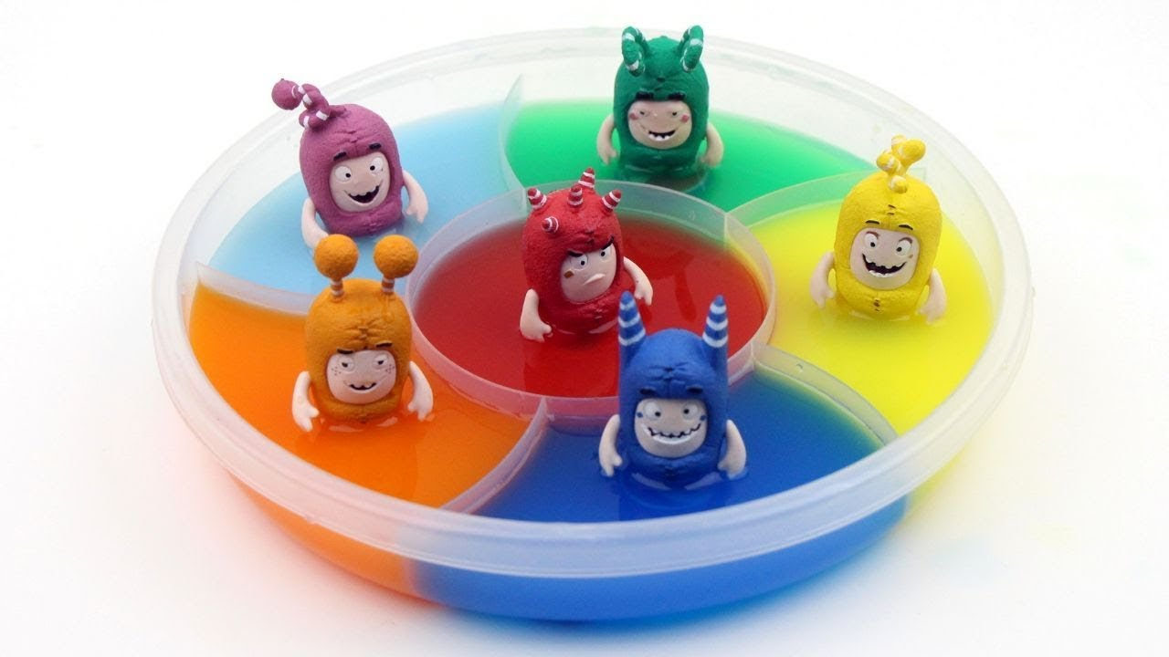Oddbods Toys In The Water Tank With Abc Song Surprise