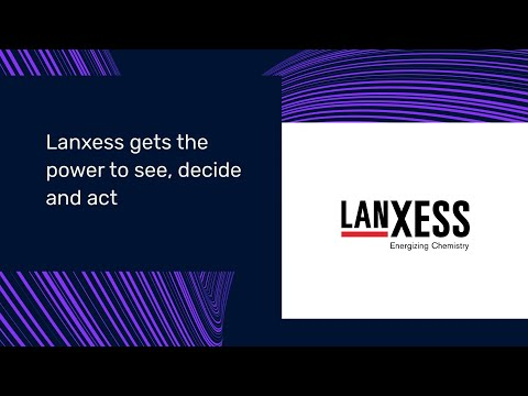 Lanxess optimizes processes using self-service industrial analytics