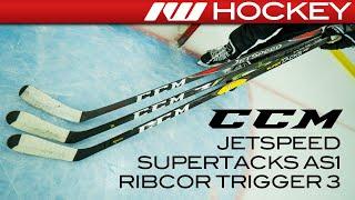 CCM RibCor Trigger 3D, Super Tacks AS1 & JetSpeed Sticks // On-Ice Insight