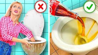 حيل تنظيف عبقرية ستسهل حياتك! || خدع ذكية للكسالى