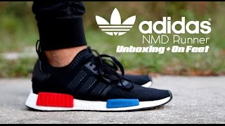 adidas nmd runner unboxing on feet