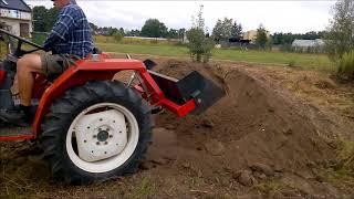 Ładowacz tylny do traktorków ogrodniczych Kubota, Yanmar, Iseki itp. www.akant-ogrody.pl
