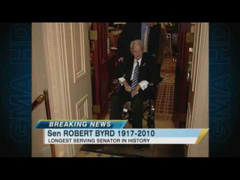 West Virginia Senator Robert C. Byrd Dies at 92