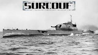 Сюркуф: подводная лодка с двумя 203-мм орудиями и самолетом
