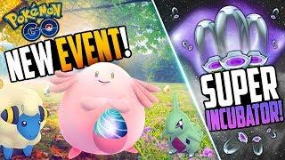 Pokemon Go - NEW EVENT + SUPER INCUBATORS! (Pokemon Go Gen 3 Hint?)