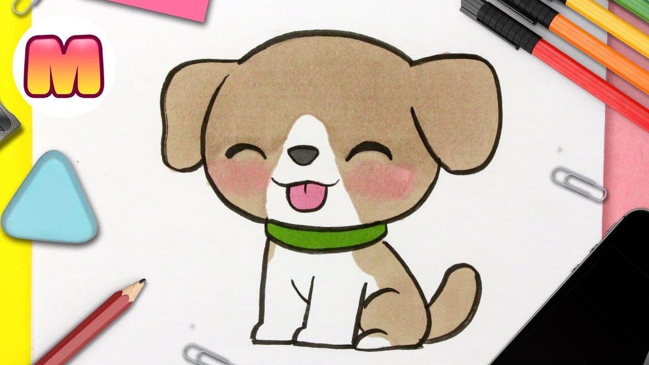 Como Dibujar Un Perro Kawaii Paso A Paso Como Dibujar Un Perro Facil Para Niños Youtube