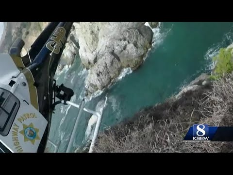 CHP makes a complex helicopter rescue in Big Sur