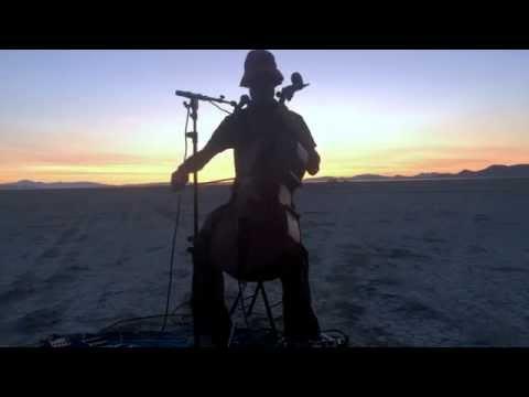 CelloJoe - Sunrise at Burning Man - Make Space Sacred