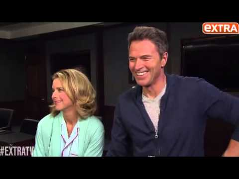 Téa Leoni and Tim Daly playful   Dec 4, 2014