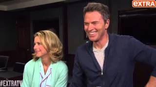 Téa Leoni and Tim Daly playful interview - Dec 4, 2014