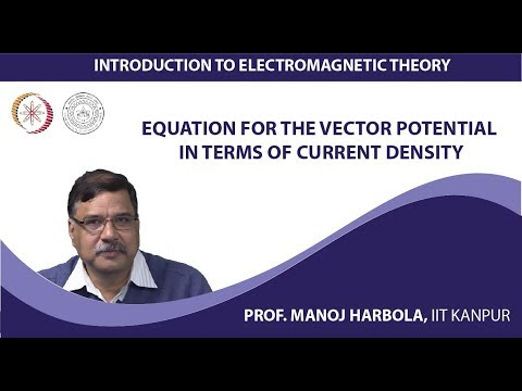 Equation for the vector potential in terms of current density