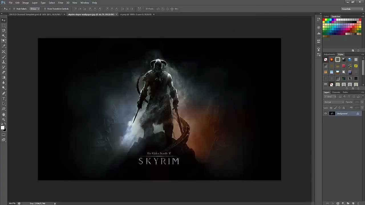 Speed-Art:Making the best gaming themed Youtube background