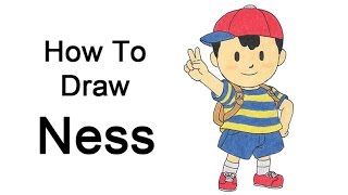 How to Draw Ness from EarthBound and Super Smash Bros.
